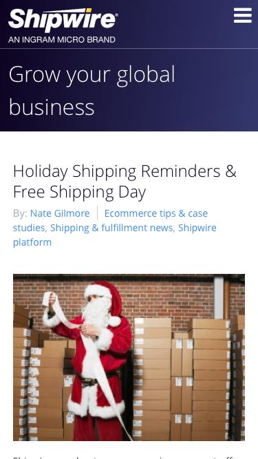 Holiday Shipping Schedule, Free Shipping Day & Shipping Promotions
