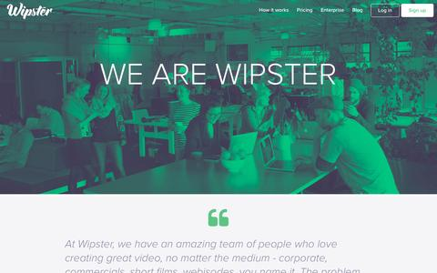 Screenshot of Contact Page wipster.io - Video Review and Approval Company | Wipster - captured Dec. 1, 2015