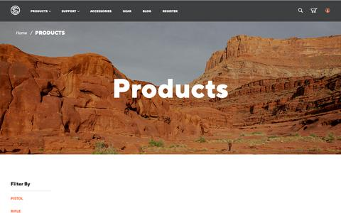 Screenshot of Products Page silencerco.com - Products - captured April 10, 2019