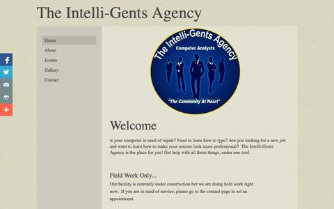 Screenshot of Home Page intelligentsagency.com - The Intelli-Gents Agency - captured Oct. 6, 2014