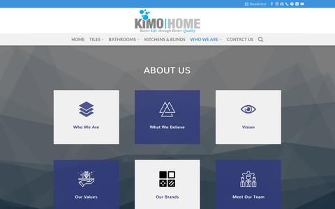 Screenshot of About Page kimogroup.com - About Us – Kimo Home Limited - captured Nov. 15, 2018