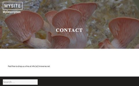 Screenshot of Contact Page inreverse.net - Contact - captured April 22, 2016