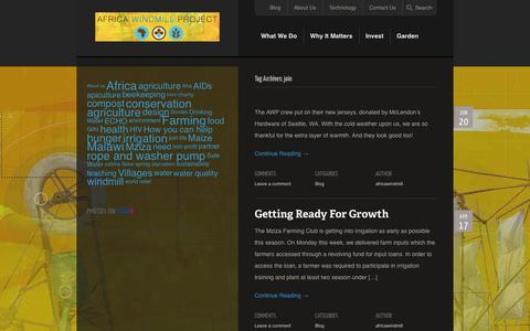 Screenshot of Signup Page africawindmill.org - Africa Windmill Project | Tag Archive | join - captured Oct. 4, 2014
