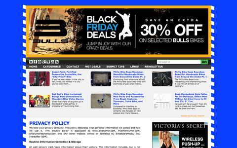Screenshot of Privacy Page bikerumor.com - Privacy Policy - captured Nov. 25, 2015