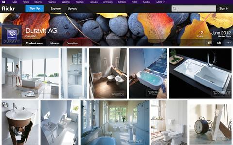 Screenshot of Flickr Page flickr.com - Flickr: Duravit AG's Photostream - captured Oct. 23, 2014