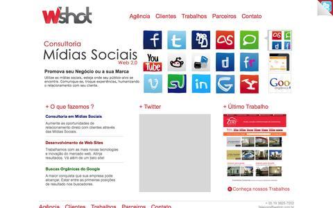 Screenshot of Home Page wshot.com.br - W'shot Publicidade para Imobiliaria e Marketing para Imobiliaria - Agência de publicidade Indaiatuba e Publicidade Campinas - captured Jan. 26, 2015