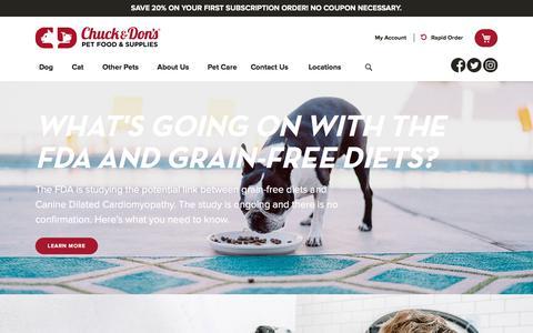 Screenshot of Home Page chuckanddons.com - Home | Chuck & Don's - captured July 16, 2019