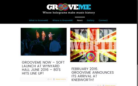 Screenshot of Press Page groovemenow.com - News & Interviews | Groove Me - captured Nov. 15, 2016
