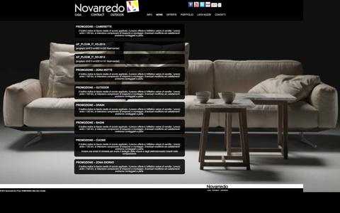 Screenshot of Press Page novarredo.it - NEWS | Novarredo - captured Oct. 7, 2014