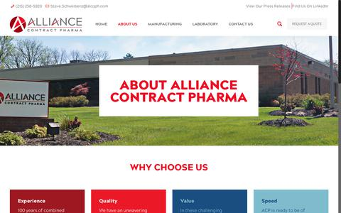 Screenshot of About Page alcoph.com - About Us | Alliance Contract Pharma - captured Oct. 3, 2018