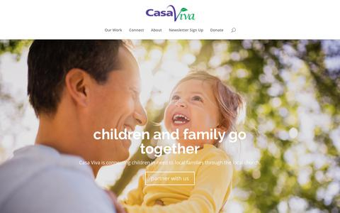 Screenshot of Home Page casaviva.org - Casa Viva   Family Based Care - captured July 16, 2018