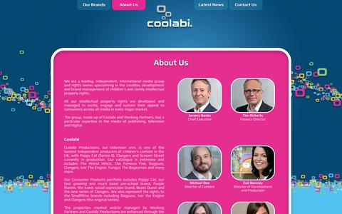 Screenshot of About Page coolabi.com - Coolabi - captured Oct. 3, 2014