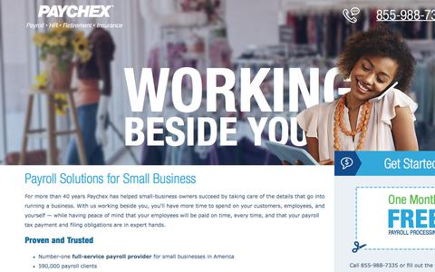 Screenshot of Landing Page paychex.com - Payroll Solutions for Small Business from Paychex - captured Sept. 25, 2017