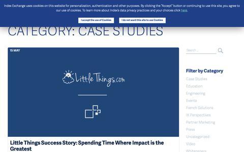 Screenshot of Case Studies Page indexexchange.com - Case Studies Archives - Index Exchange UK - captured Nov. 16, 2018