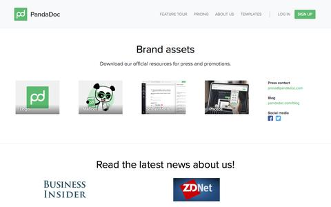 Screenshot of Press Page pandadoc.com - Press - captured Dec. 17, 2014