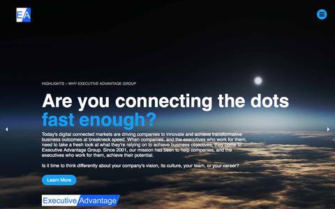 Screenshot of Home Page executive-advantage.com - Executive Advantage Group, Inc. - Executive Search, Executive Coaching - captured Sept. 18, 2017
