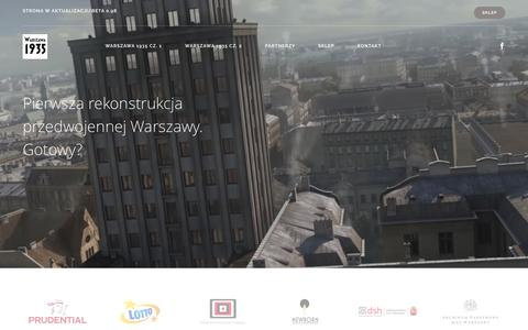 Screenshot of Home Page warszawa1935.pl - Warszawa1935 - captured April 9, 2016