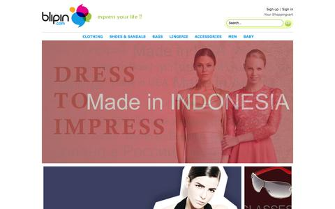 Screenshot of Signup Page blipin.com - :: BLIPIN :: The Only Place to Shop - captured Oct. 29, 2014