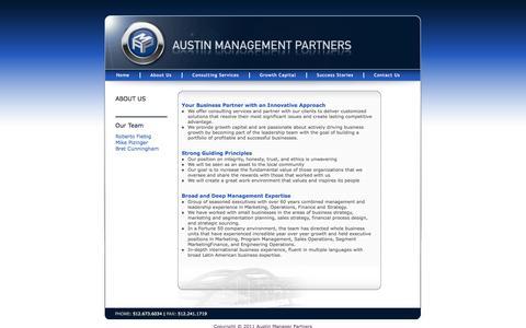 Screenshot of About Page austinmp.com - Austin Management Partners - captured Oct. 4, 2014