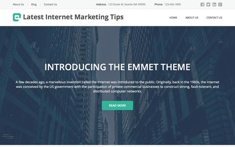 Screenshot of Home Page latest-internet-marketing-tips.com - Latest Internet Marketing, Web Marketing Tips, Advice and Services - captured March 16, 2016