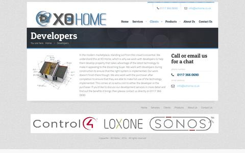 Screenshot of Developers Page xohome.co.uk - Developers | XO Home - captured Sept. 30, 2014