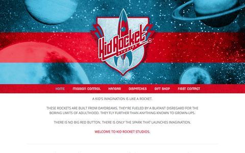 Screenshot of Home Page kidrocketstudios.com - Kid Rocket Studios - captured Sept. 30, 2014