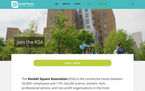 Screenshot of Signup Page kendallsq.org - JOIN – KSA - captured Oct. 15, 2018
