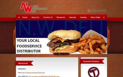 Screenshot of Maps & Directions Page nwdeli.com - N.W. DELI DISTRIBUTION, INC. - - captured Nov. 5, 2014