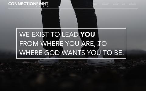 Screenshot of Home Page connectionpointchurch.net - Connection Point Church   Garland   Plano   Wylie   Sachse   Richardson    Murphy   Pastor Joel Halpin - captured Dec. 5, 2015