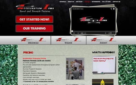 Screenshot of Pricing Page accelerationiowa.com - Acceleration Iowa   » Pricing - captured Oct. 4, 2014