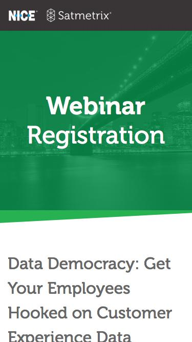 Satmetrix Webinar Registration: Data Democracy