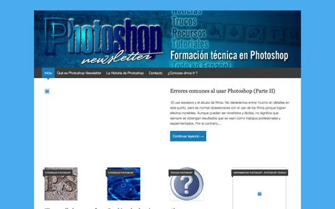 Screenshot of Home Page photoshop-newsletter.com - Photoshop Newsletter. Cursos, Tutoriales y Trucos - captured Oct. 10, 2017
