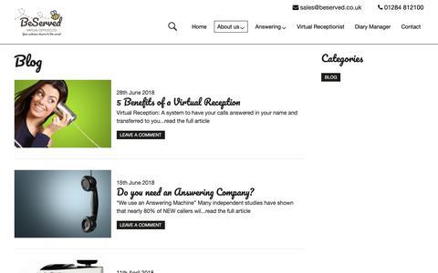 Screenshot of Blog beserved.co.uk - Blog | Beserved - captured Oct. 5, 2018