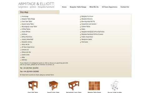 Screenshot of Site Map Page armitageandelliott.co.uk - Armitage and Elliott Site Map. Do not hesitate to contact us. - captured Sept. 30, 2014