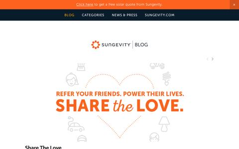 Screenshot of Blog sungevity.com - Sungevity Blog - captured Feb. 19, 2016