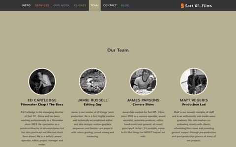 Screenshot of Team Page sortoffilms.co.uk - Our Team - Sort Of...Films - captured Dec. 1, 2016