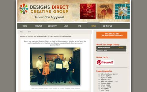 Screenshot of Press Page designsdirectllc.com - Designs Direct, llc | Manufacturers and Designers of Container Direct Home Decor Products for Retail, Hospitality and Commercial Companies - captured Oct. 29, 2014