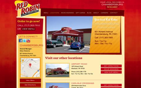 Screenshot of Locations Page redrobinpa.com - Red Robin PA | Red Robin Restaurants | Pennsylvania | Red Robin - captured Nov. 2, 2014