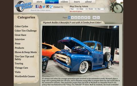 Screenshot of Blog cokertire.com - Coker Tire Blog | Coker Tire Blog - captured Nov. 5, 2014
