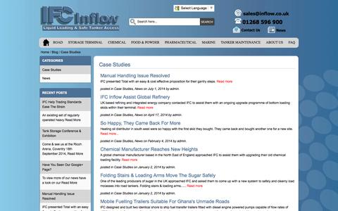 Screenshot of Case Studies Page inflow.co.uk - Case Studies / Ifc-inflow Blog - captured Oct. 3, 2014