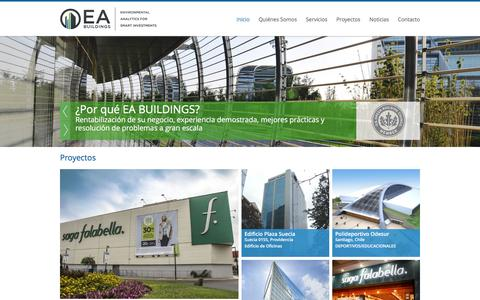 Screenshot of Home Page ea-buildings.com - EA Buildings - captured Dec. 5, 2015