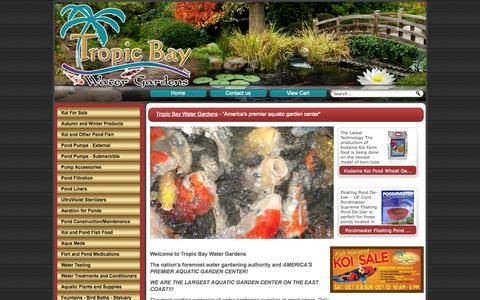 Screenshot of Home Page tropicbaywatergardens.com - Tropic Bay Water Gardens - captured Oct. 9, 2014