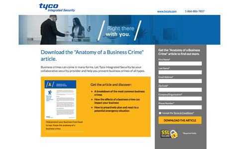 Screenshot of Landing Page tycois.com - Anatomy of a Business Crime - captured July 26, 2016