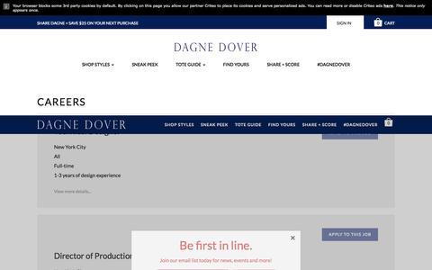 Screenshot of Jobs Page dagnedover.com - Careers - Dagne Dover - captured Nov. 23, 2015