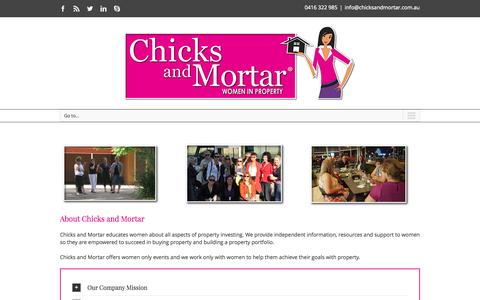 Screenshot of About Page chicksandmortar.com.au - About Chicks and Mortar - Women Investing in Property - captured Nov. 4, 2014