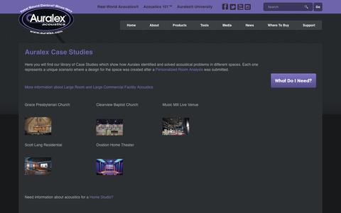 Screenshot of Case Studies Page auralex.com - Auralex Acoustics |   Auralex Case Studies - captured Oct. 9, 2017
