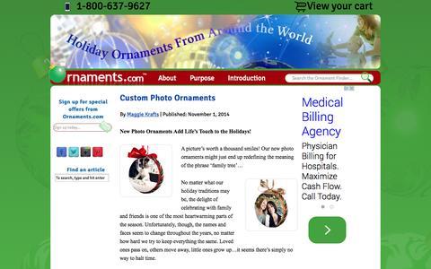 Screenshot of Blog ornaments.com - Ornaments News and Reviews - captured Nov. 5, 2014