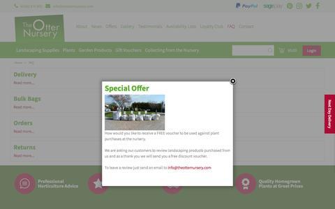 Screenshot of FAQ Page theotternursery.com - FAQ - The Otter Nursery - Ottershaw, Surrey - captured Sept. 21, 2018