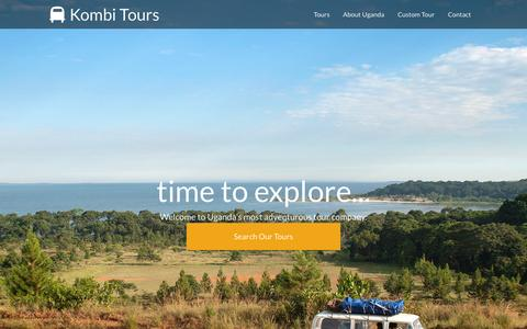 Screenshot of Home Page kombitours.com - Uganda Tours & Safaris - Kombi Tours - captured Sept. 6, 2015