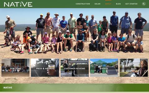 Screenshot of About Page buildnative.com - Meet the Award-Winning NATiVE Team & Read Our Blog - captured Oct. 18, 2018